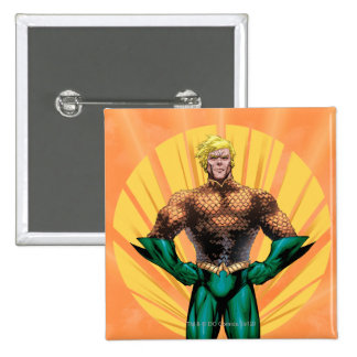 Aquaman Standing Pinback Button