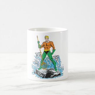 Aquaman Stands with Pitchfork Coffee Mugs