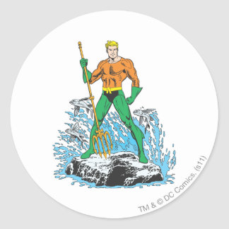 Aquaman Stands with Pitchfork Stickers