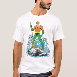 Aquaman Stands with Pitchfork T-Shirt