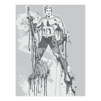 Aquaman - Twisted Innocence BW Postcard