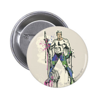 Aquaman - Twisted Innocence Color 2 Inch Round Button