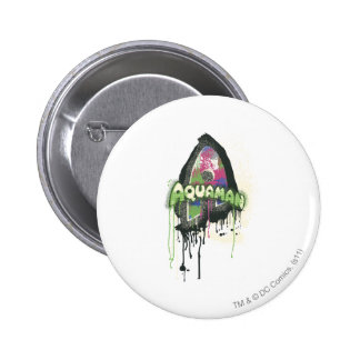 Aquaman - Twisted Innocence Letter 2 Inch Round Button