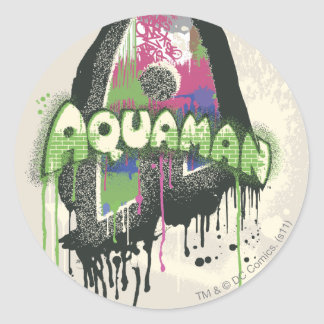 Aquaman - Twisted Innocence Letter Round Stickers