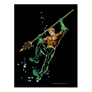 Aquaman with Spear Postcard