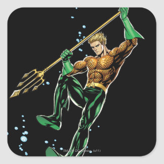 Aquaman with Spear Square Stickers