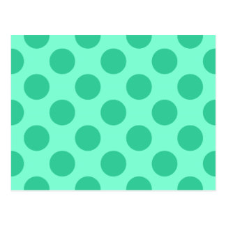 Aquamarine and Green Dots Postcard