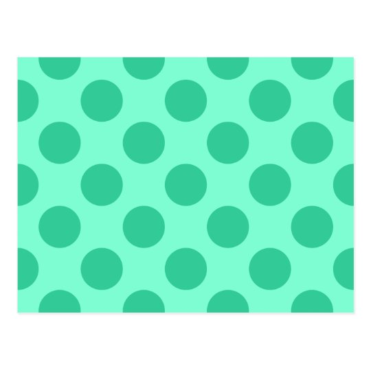 Aquamarine and Green Dots Postcard