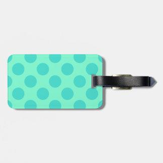 Aquamarine and Turquoise Polka Dots Luggage Tag