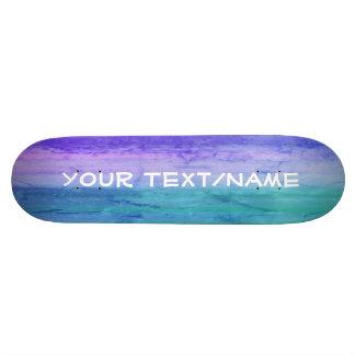 Aquamarine and violets Customized Skateboard