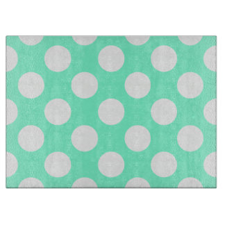 Aquamarine and White Dots Boards