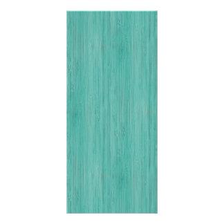 Aquamarine Bamboo Wood Grain Look Full Color Rack Card