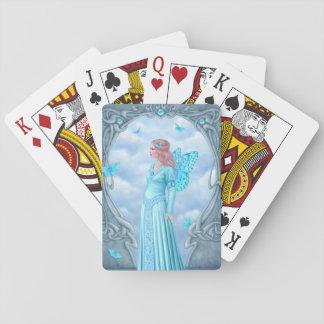 Aquamarine Birthstone Fairy Classic Playing Cards