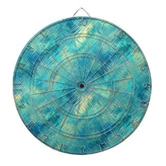 Aquamarine Blue Crystal Gel Texture Dart Board