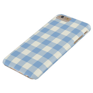 Aquamarine Blue Gingham iPhone 6 Plus Case