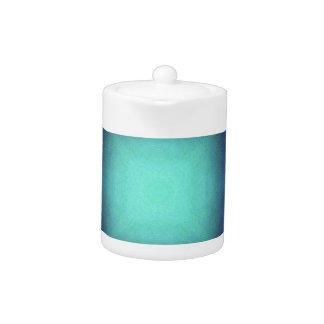 Aquamarine Blue Personalizable Framed Pattern