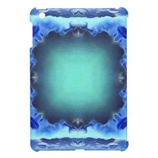 Aquamarine Blue Personalizable Framed Pattern Case For The iPad Mini