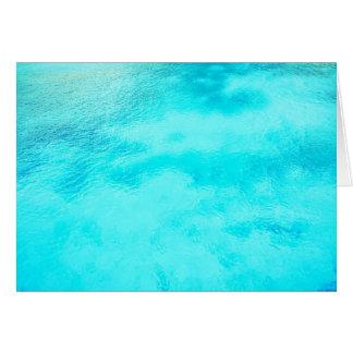 Aquamarine Blue Water Blank Folded Note Cards