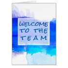 Aquamarine BLUE Watercolor Abstract  Welcome Card