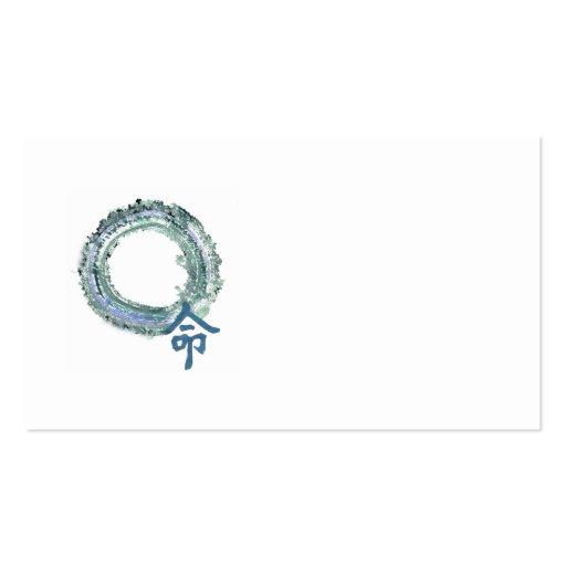 Aquamarine Destiny, Enso Business Card Template