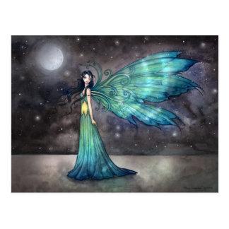 Aquamarine Eve Celestial Faerie Fairy Fantasy Art Postcard