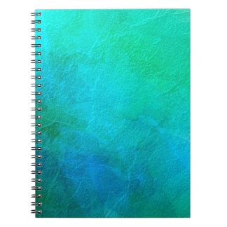 Aquamarine Green Blue Ice Abstract Art Notebook