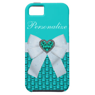 Aquamarine & Heart Jewel iPhone 5 Case