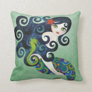 Aquamarine Mermaid American MoJo Pillow