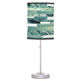 Aquamarine ocean theme table lamp