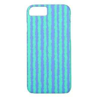 Aquamarine oil pastel stripes on blue iPhone 8/7 case