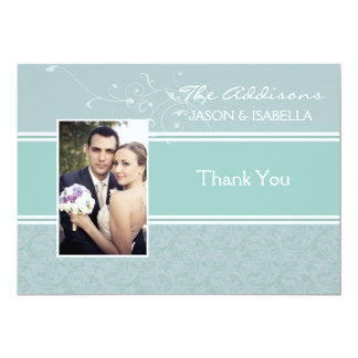 Aquamarine Photo Thank You / Personalized Notecard