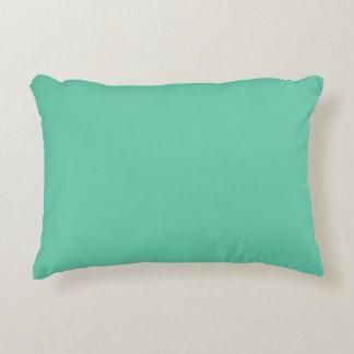 Aquamarine Solid Colour Decorative Pillow