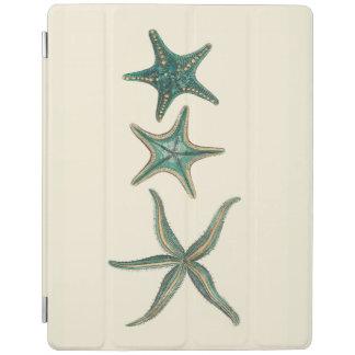 Aquamarine Triple Starfish iPad Cover