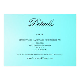 Aquamarine Wedding Details Card