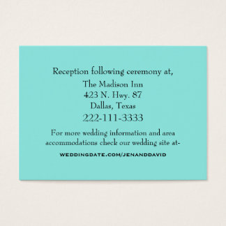 Aquamarine Wedding Enclosure Card