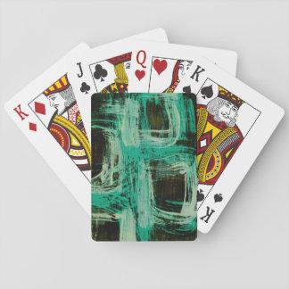 Aquamarine Windows I Playing Cards