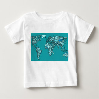 aquamarine world map tee shirts