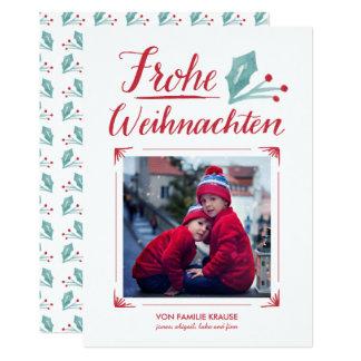 Aquarell & Kalligraphie   Frohe Weihnachten Card
