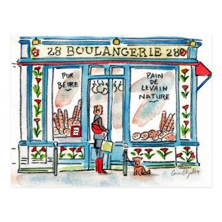 Aquarelle de BOULANGERIE 28 Paris Cartes Postales