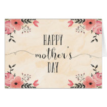 Aquarelle de carte du jour de mère de fleurs