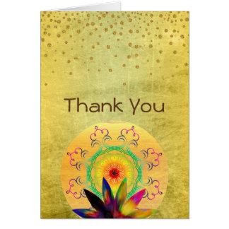 Aquarelle de fleur de Lotus de Merci holistique Carte De Vœux