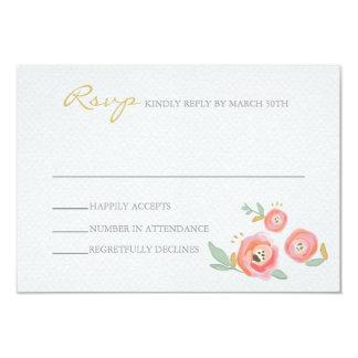 Aquarelle épousant des cartes de RSVP Carton D'invitation 8,89 Cm X 12,70 Cm