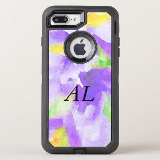 Aquarelle florale violette coque otterbox defender pour iPhone 7 plus