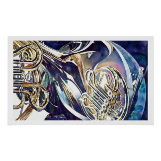 """"""" Aquarelle légère """"de recourbement d'instruments  Posters"""