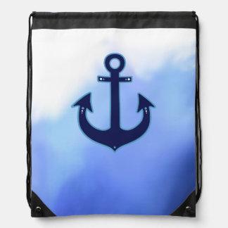aquarelle maritime de bleu d'ancre de marin sac à dos