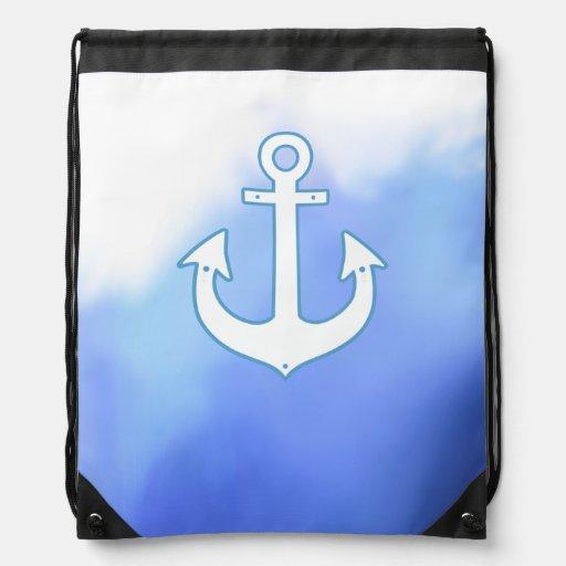 aquarelle nautique maritime de bleu d'ancre sac à dos