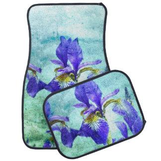Aquarelle pourpre d'iris tapis de sol