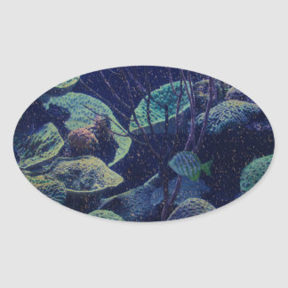 Aquarium Oval Sticker
