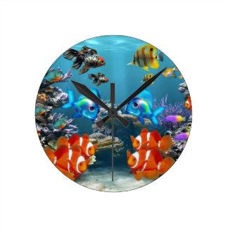 Aquarium Sea Round Clock