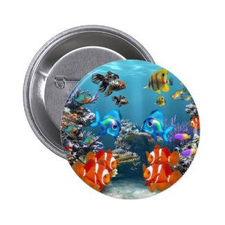 Aquarium Sealife 2 Inch Round Button